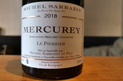 2018 Mercurey rouge LE PIERRIER, Michel Sarrazin